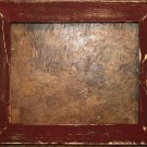 "10 x 10 1-1/2"" Maroon Distressed Picture Frame"