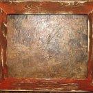"9 x 9 1-1/2"" Orange Distressed Picture Frame"
