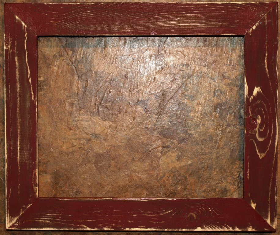 """10 x 20 1-1/2"""" Maroon Distressed Picture Frame"""