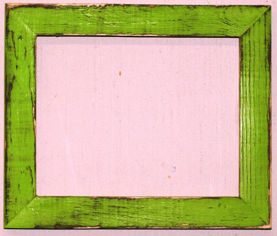 """8-1/2 x 11 1-1/2"""" Lime Distressed Picture Frame"""