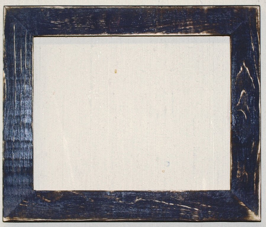 "10 x 13 1-1/2"" Navy Distressed Picture Frame"