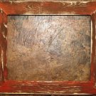 "16 x 16 1-1/2"" Orange Distressed Picture Frame"