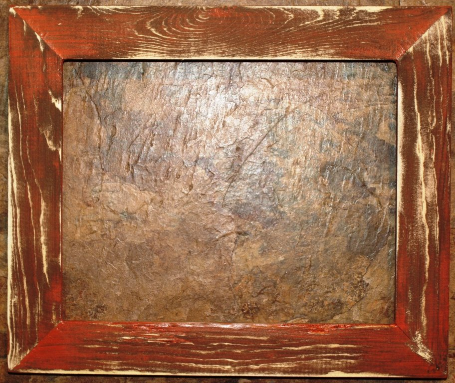 "18 x 24 1-1/2"" Orange Distressed Picture Frame"