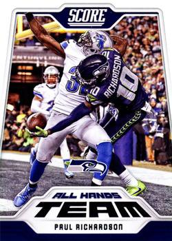 2018 Score Football Card All Hands Team #8 Paul Richardson