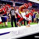 2018 Score Football Card Celebrations #4 Travis Kelce