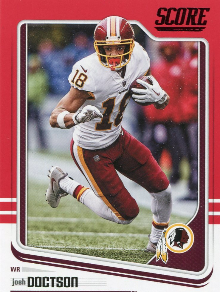 2018 Score Football Card Red #326 Josh Doctson