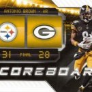 2018 Score Football Card Scoreboard #11 Antonio Brown