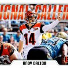 2018 Score Football Card Signal Callers #7 Andy Dalton