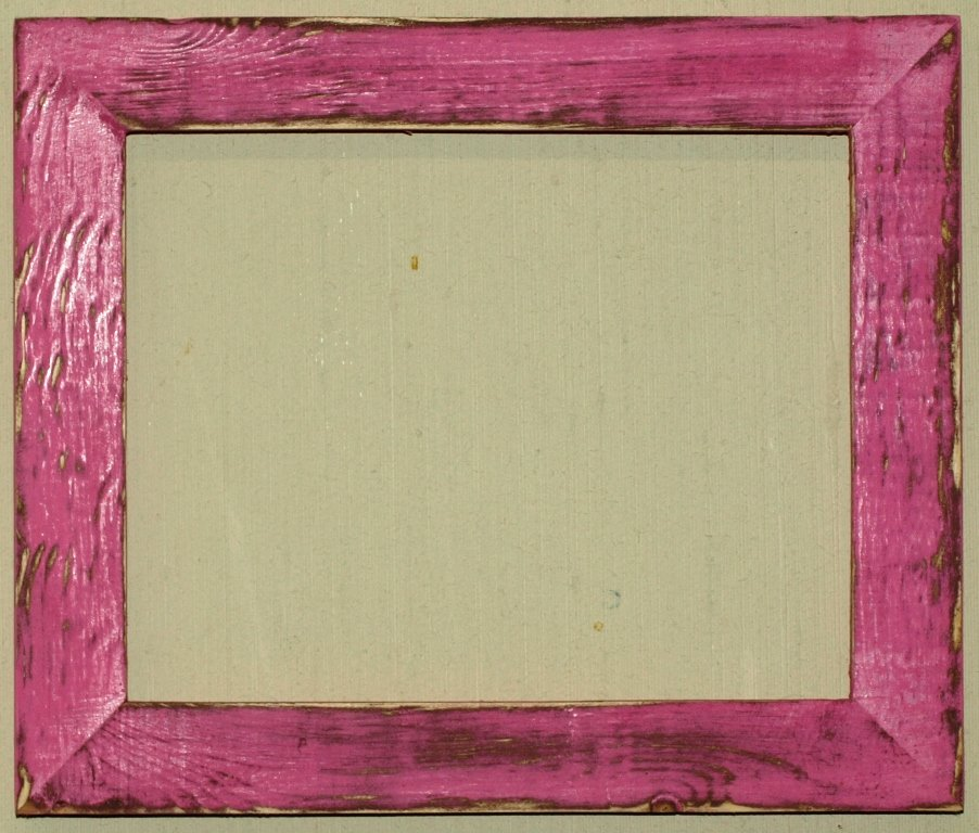 "18 x 24 1-1/2"" Hot Pink Distressed Picture Frame"