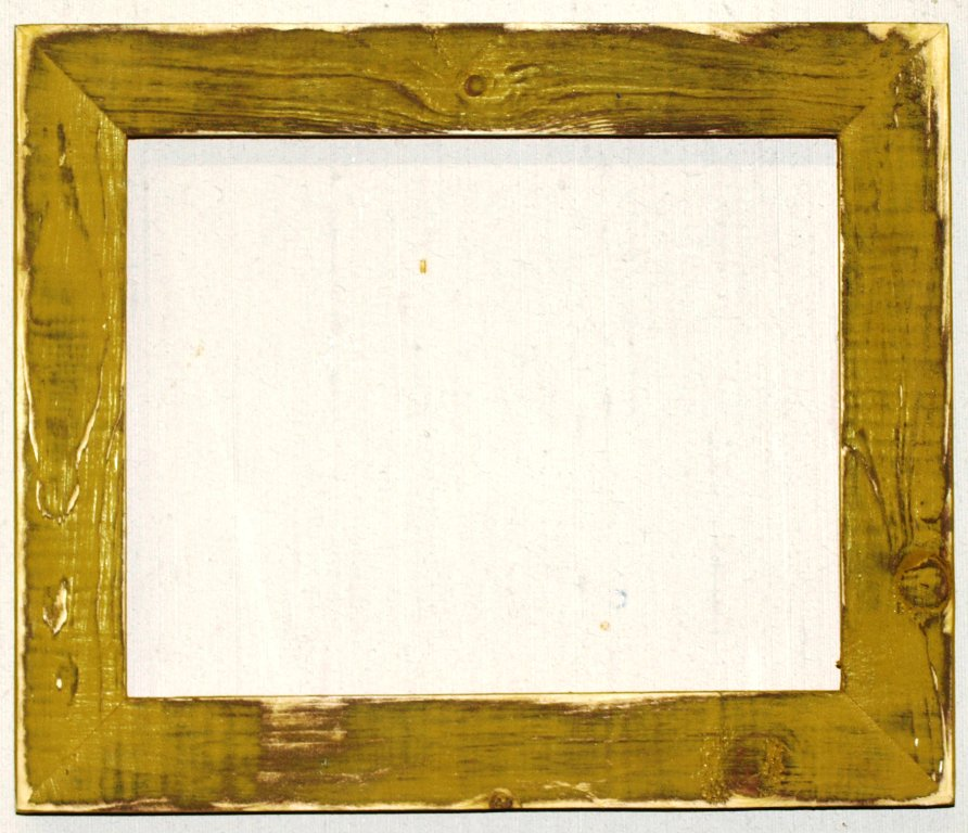 """16 x 16 1-1/2"""" Pale Gold Distressed Picture Frame"""