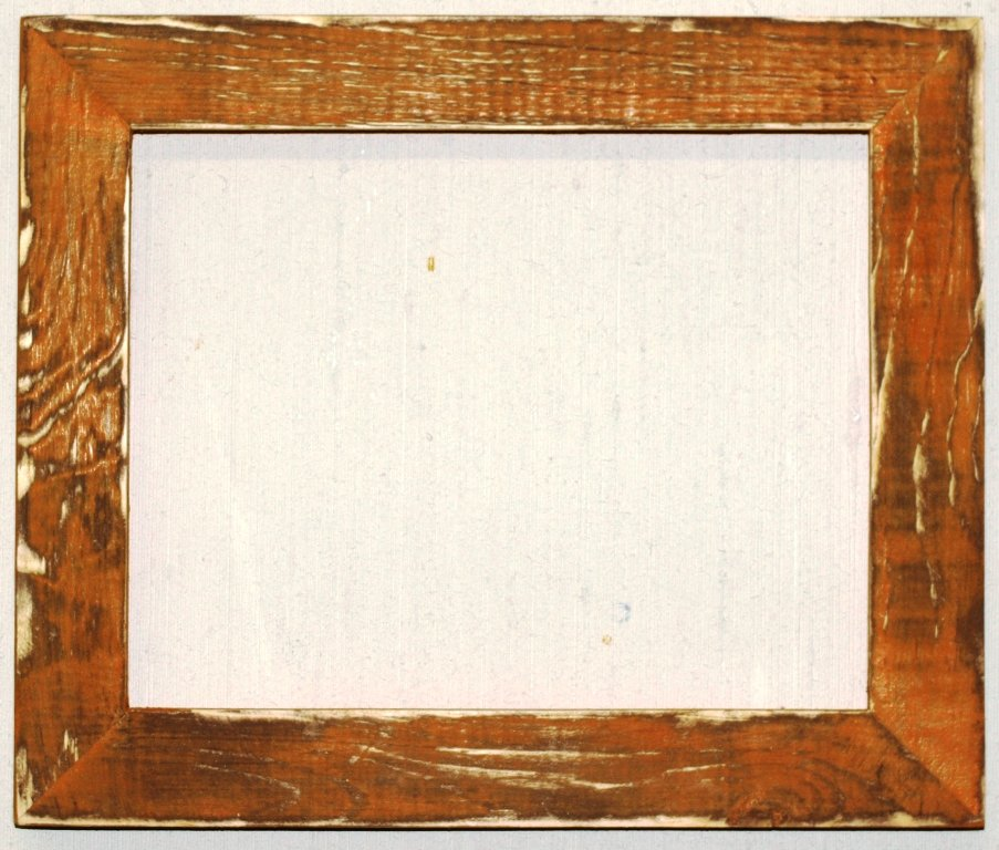 "12 x 24 1-1/2"" TN Orange Distressed Picture Frame"