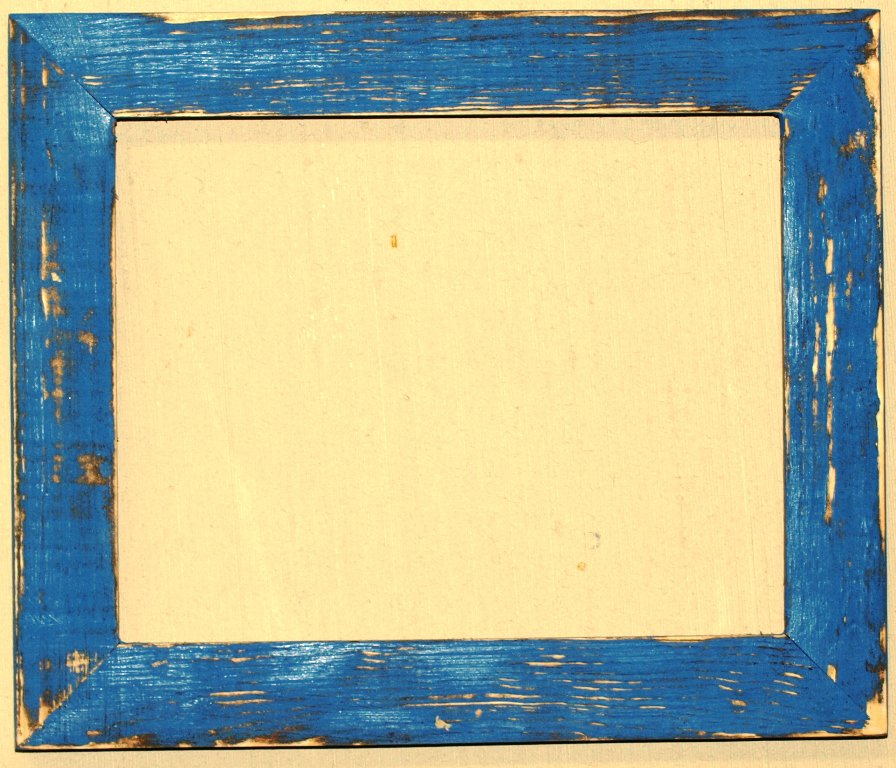 """10 x 20 1-1/2"""" OKC Blue Distressed Picture Frame"""