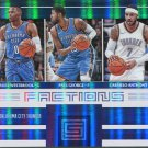 2017 Stratus Basketball Card Factions Blue #17 Russell Westbrook, Paul George, Carmelo Anthony
