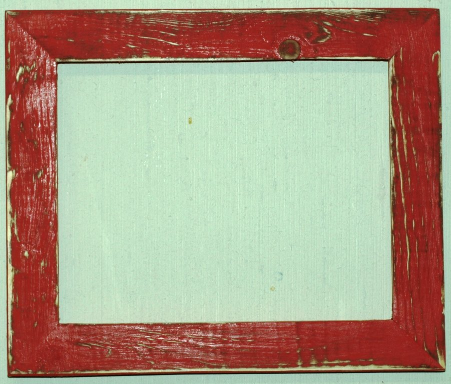 "16 x 24 1-1/2"" OKC Red Distressed Picture Frame"