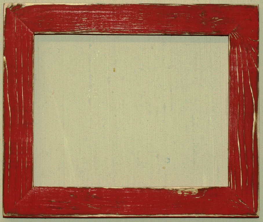 """12 x 24 1-1/2"""" Scarlet Distressed Picture Frame"""