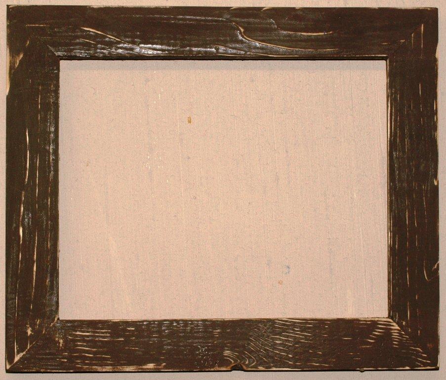 "10 x 20 1-1/2"" Walnut Bark Distressed Picture Frame"