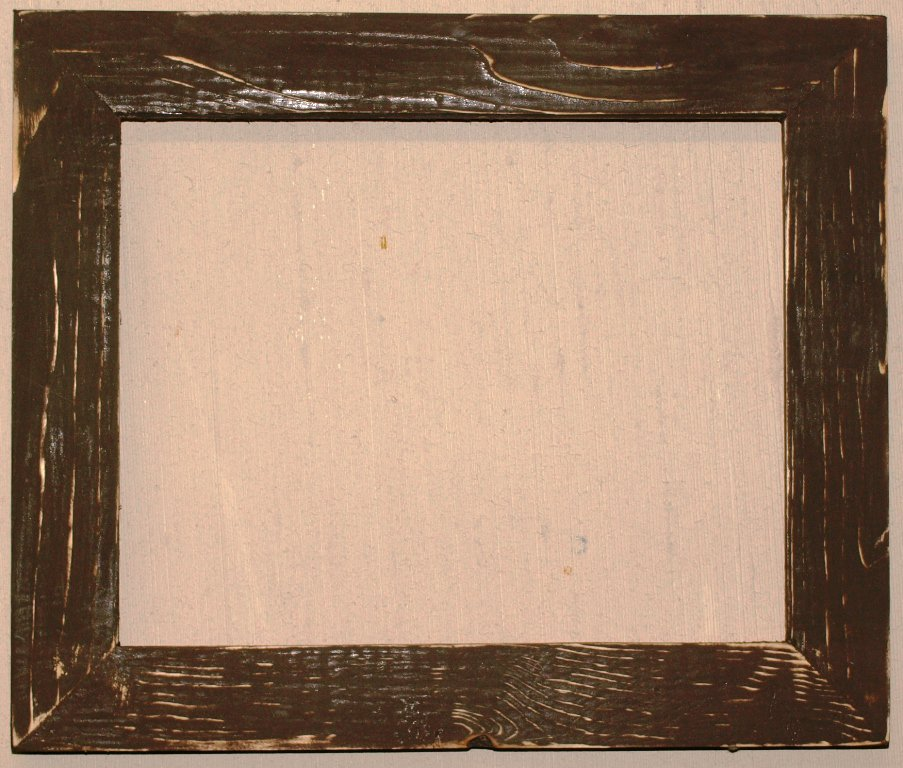 "18 x 18 1-1/2"" Walnut Bark Distressed Picture Frame"