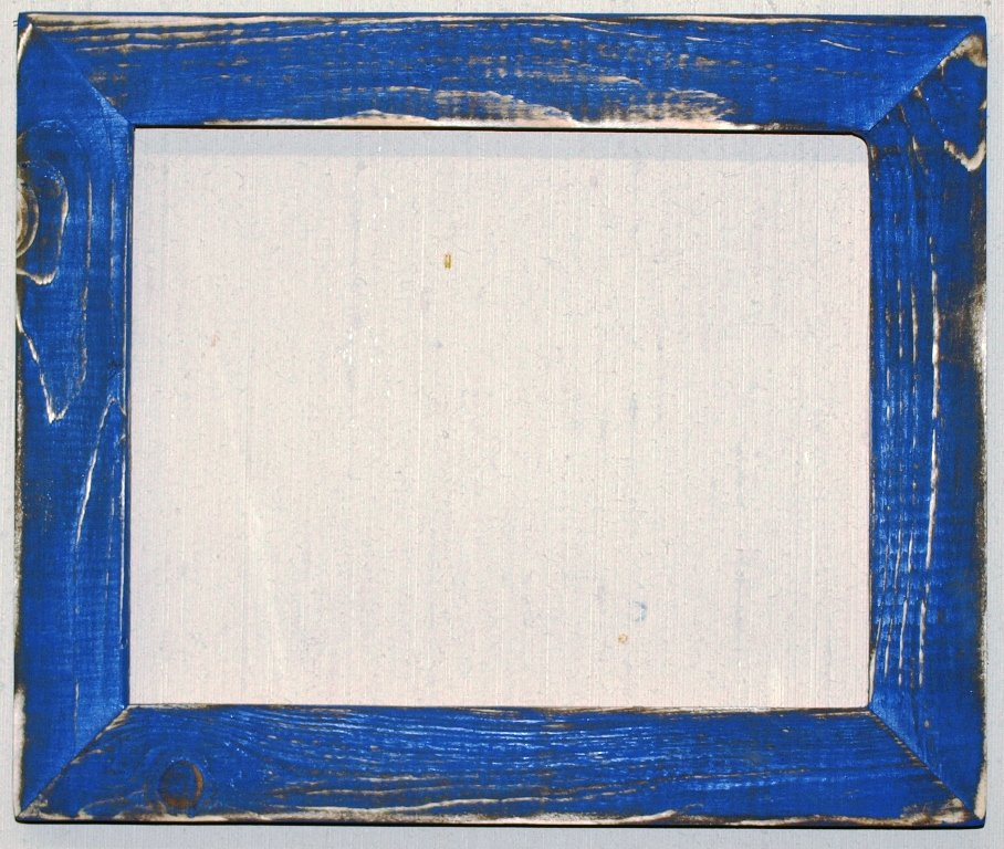 """5 x 7 1-1/2"""" UK Blue Distressed Picture Frame"""