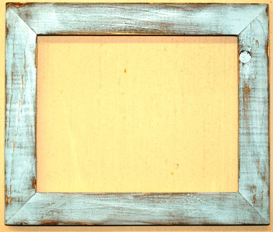 "6 x 6 1-1/2"" Baby Blue Distressed Picture Frame"