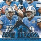 2015 Score Football Card Team Leaders #14 Detroit Lions