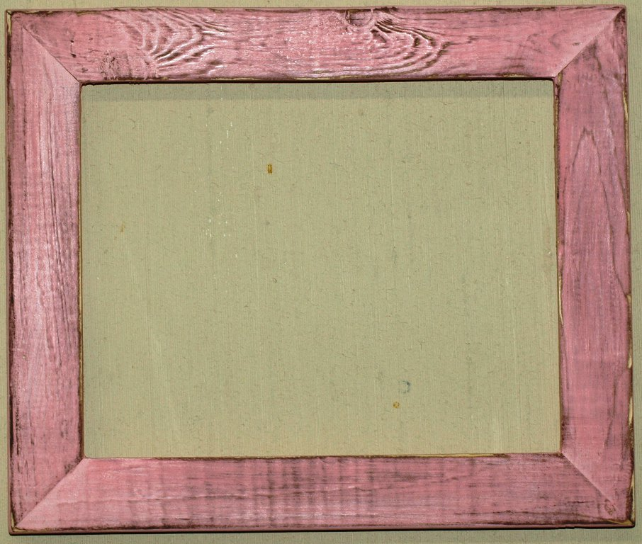 """5 x 5 1-1/2"""" Baby Pink Distressed Picture Frame"""