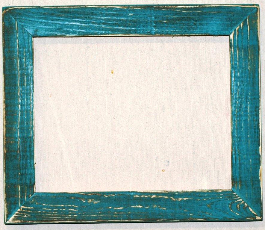 "16 x 16 1-1/2"" Aqua Distressed Picture Frame"