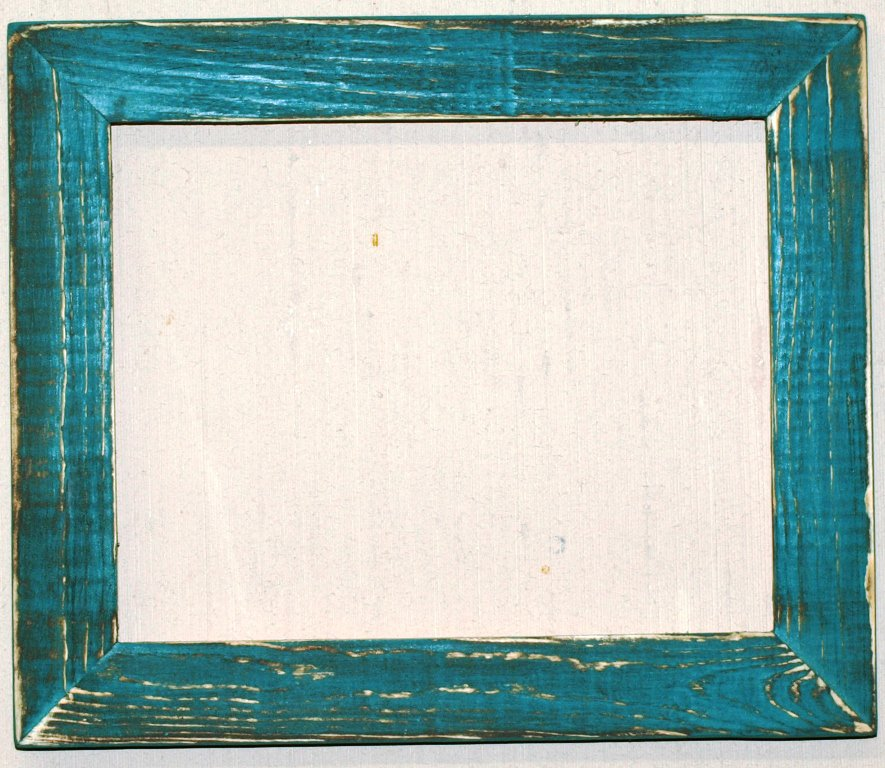 "18 x 18 1-1/2"" Aqua Distressed Picture Frame"