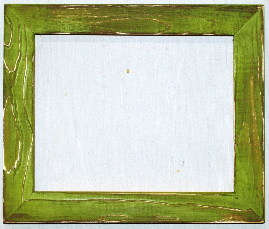 "4 x 6 1-1/2"" Green Apple Distressed Picture Frame"