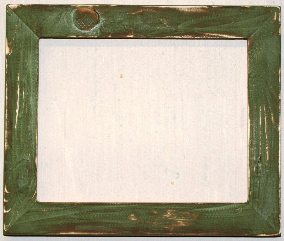 "4 x 6 1-1/2"" Sage Distressed Picture Frame"