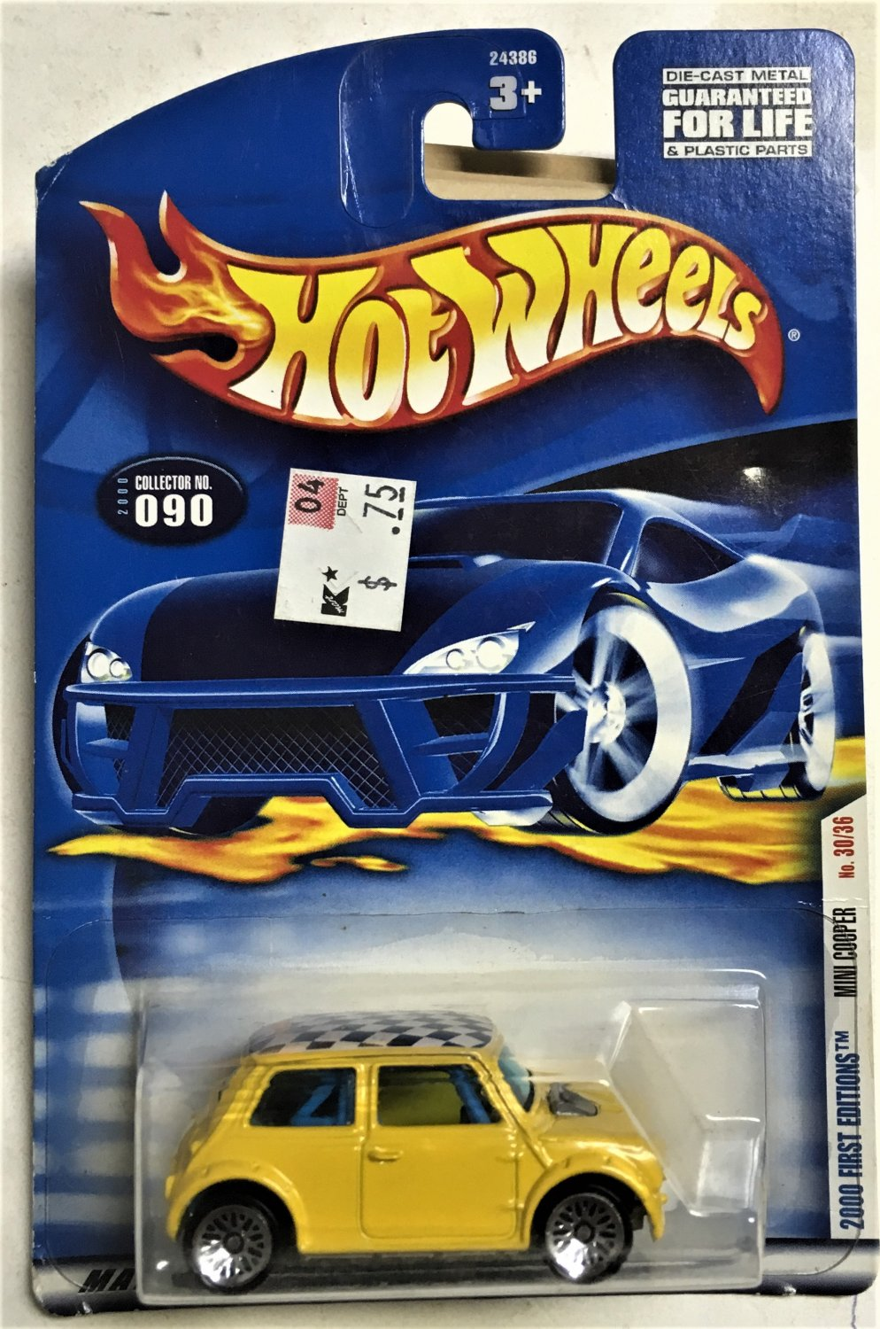 2000 Hot Wheels First Editions #30 Mini Cooper