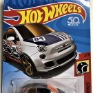 2018 Hot Wheels Daredevils #2 Fiat 500 SILVER
