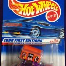 1998 Hot Wheels First Editions #2 Slide Out (Full Car on Card)