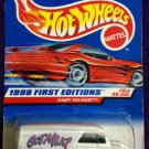 1998 Hot Wheels First Editions #10 Dairy Delivery (Red car on card)