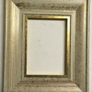 "5 x 5 2-1/4"" White w/Gold Lip Picture Frame"