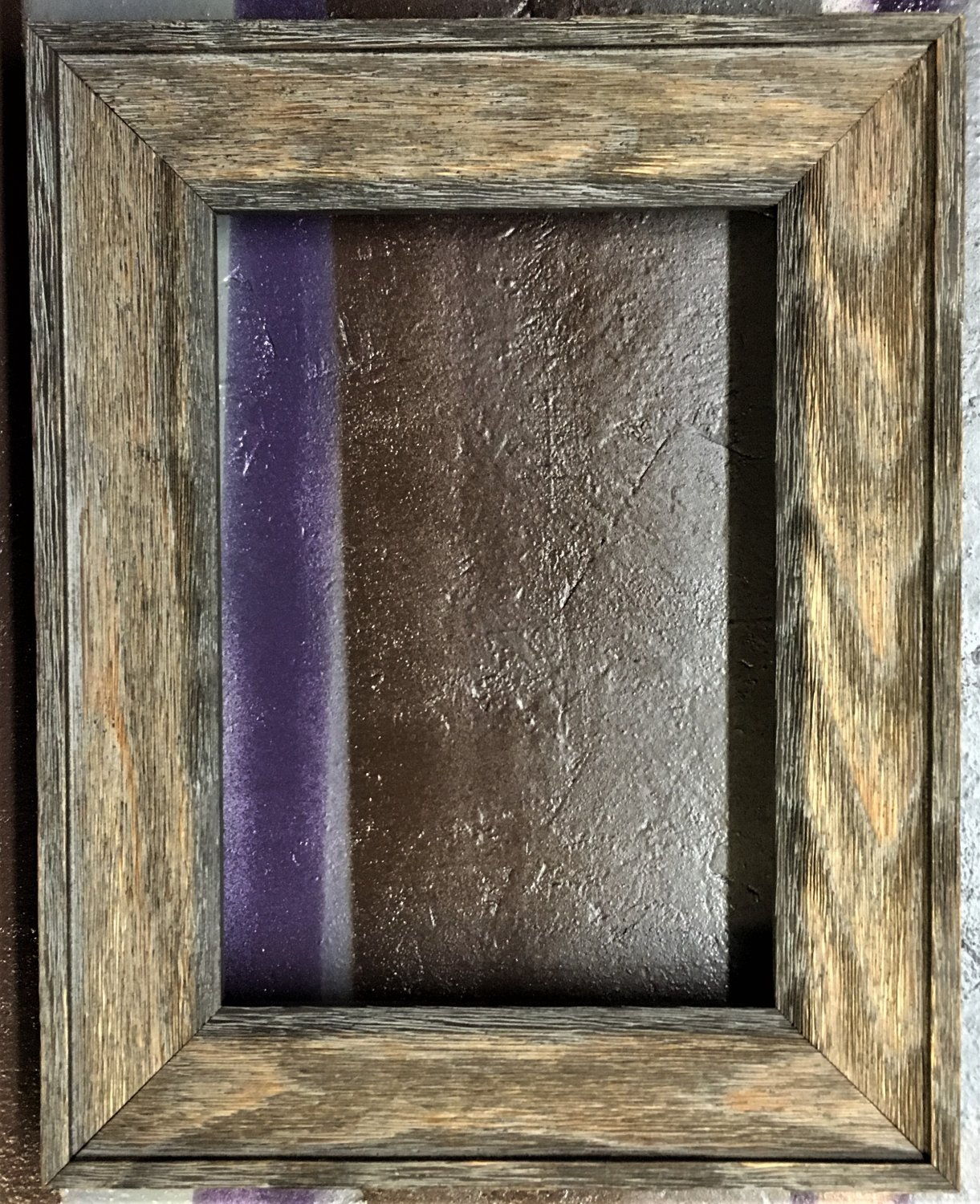 """9 x 9 1-1/2"""" Barnwood Picture Frame"""