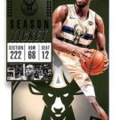 2018 Panini Contenders Basketball Card #31 Khris Middleton