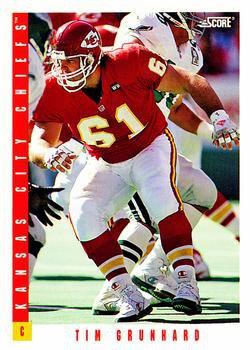 1993 Score Football Card #89 Tim Grunnard