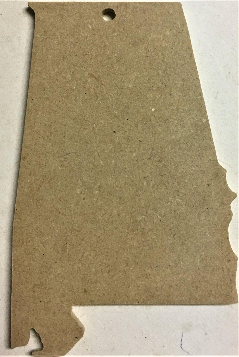 """6"""" Ready-To-Paint Ornament, ALABAMA 1/4"""" MDF Unfinished PACK of 50"""