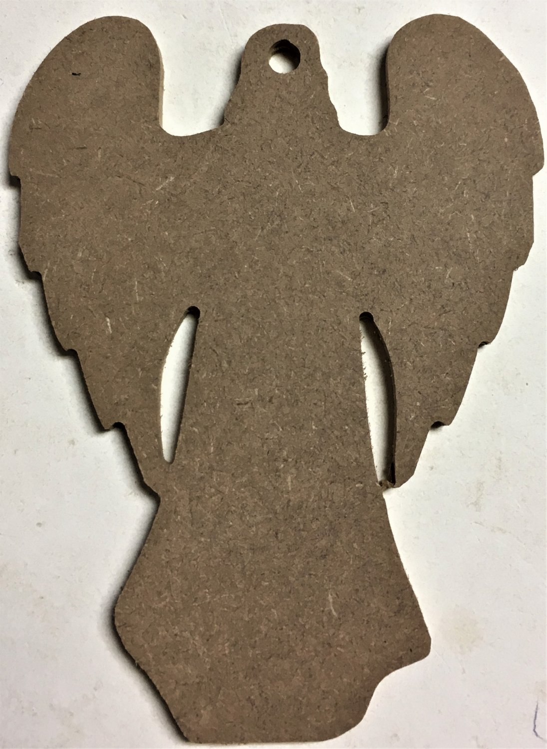 """6"""" Ready-To-Paint Ornament, ANGEL Style 1 1/4"""" MDF Unfinished Pack of 25"""