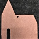"6"" Ready-To-Paint Ornament, CHURCH STYLE 2, 1/4"" MDF Unfinished Pack of 5"