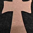 "6"" Ready-To-Paint Ornament, CROSS 3, 1/4"" MDF Unfinished"