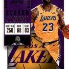 2018 Panini Contenders Basketball Card #30 LeBron James