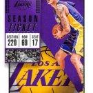2018 Panini Contenders Basketball Card #50 Kyle Kuzma