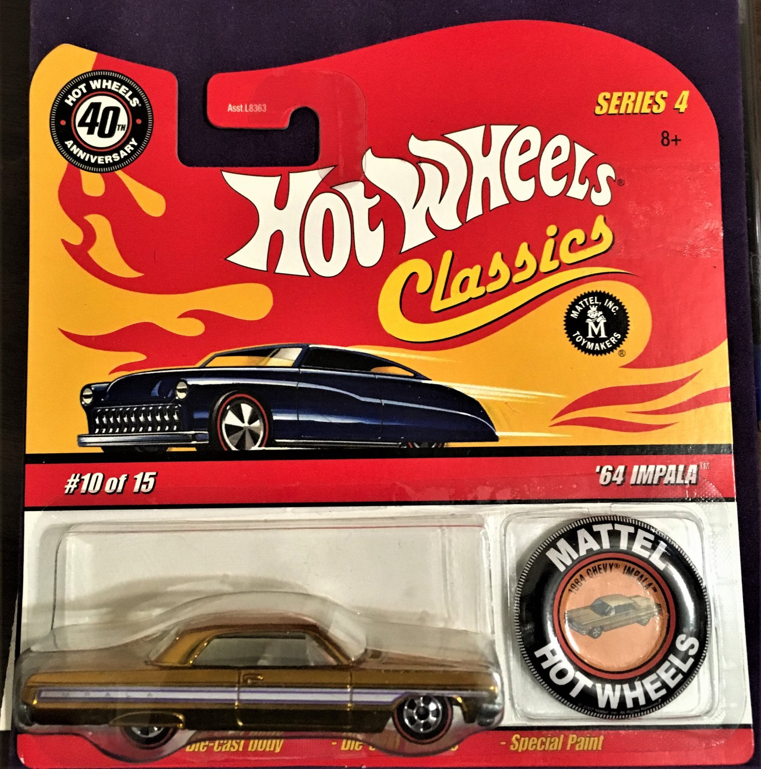 2008 Hot Wheels Classic 4 with Button #10 64 Impala