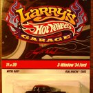 2009 Hot Wheels Larry's Garage #11 3 Window 34 Ford BLACK