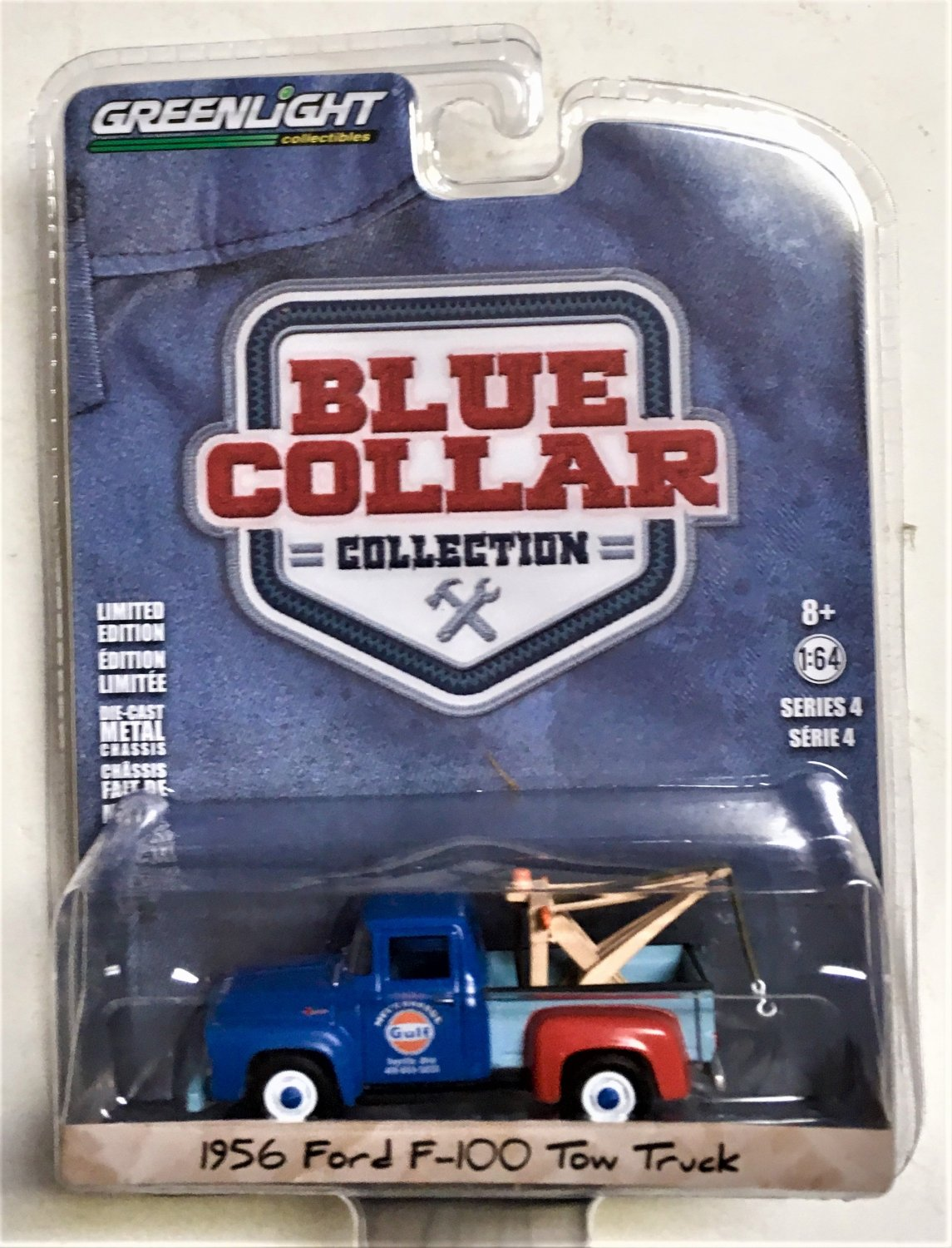 Greenlight Blue Collar Series 4 #35100A 1956 Ford F-100 Tow Truck