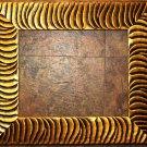 "9 x 9 2-1/2"" Tiger Stripe Picture Frame"