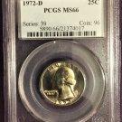 PCGS 1972-D Quarter MS66  #Q0001