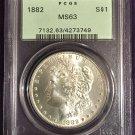 PCGS 1882 Morgan Dollar  MS63  #D0003
