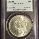 PCGS 1885-O Morgan Dollar  MS63  #D0004